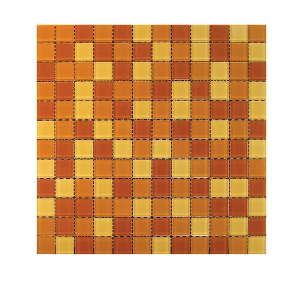 Glass Mosaic Tile in Red/Orange by QDI Surfaces