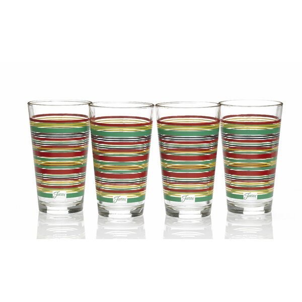 Stripes 16 Oz. Tapered Cooler Glass (Set of 4) by Fiesta