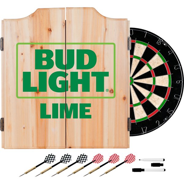 Bud Light Dart Cabinet in Lime by Trademark Global