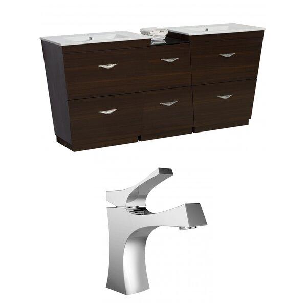 Vee 56 Double Bathroom Vanity Set