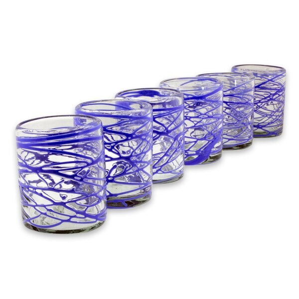 Darci Swirl 10 oz. Water/Juice Glass (Set of 6) by Latitude Run