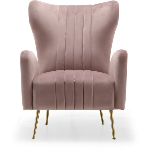Spady Wingback Chair by Everly Quinn Everly Quinn