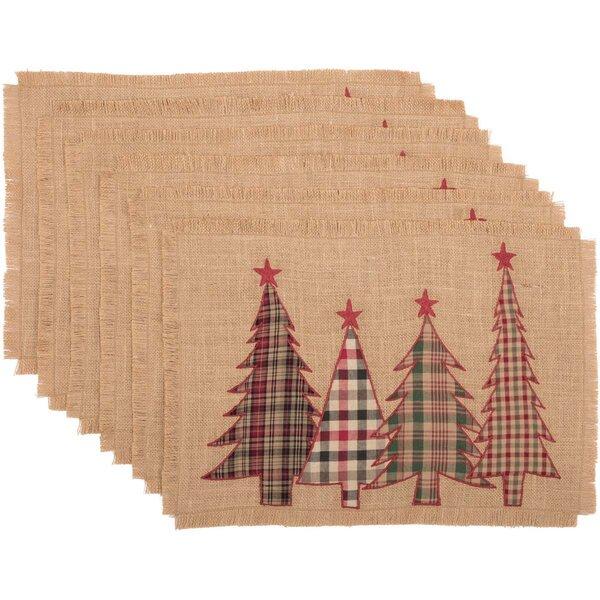 Leonidas Applique Tree Placemat (Set of 6) by Gracie Oaks