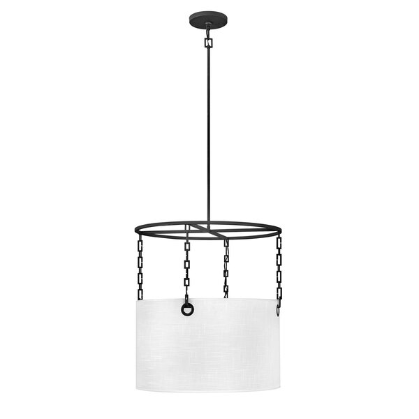 Tribeca 4 - Light Shaded Drum Chandelier By Hinkley
