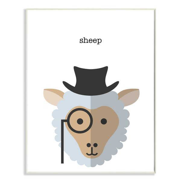 Typographic Hipster Sheep Wall Plaque by Stupell Industries