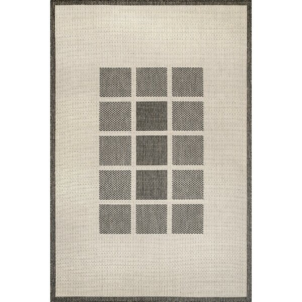 Rodesta Geometric Beige Indoor / Outdoor Area Rug