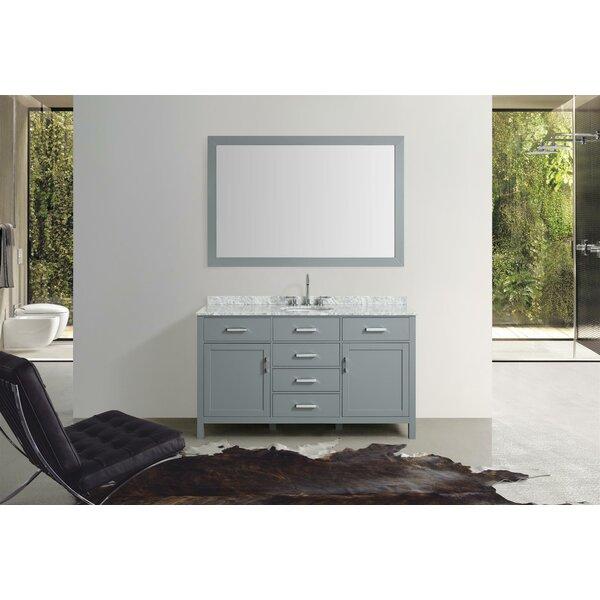 Weatherford 61 Single Bathroom Vanity Set with Mirror by Orren Ellis