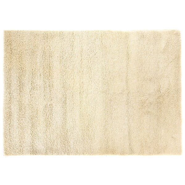 Sumo Handmade Shag Wool Ivory Area Rug by Exquisite Rugs