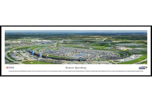 NASCAR Kansas Speedway by Christopher Gjevre Framed Photographic Print by Blakeway Worldwide Panoramas, Inc