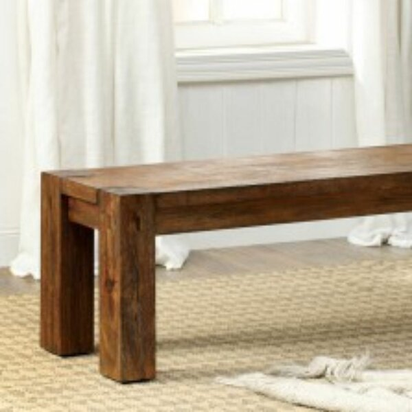 Silvis Wood Bench by Millwood Pines