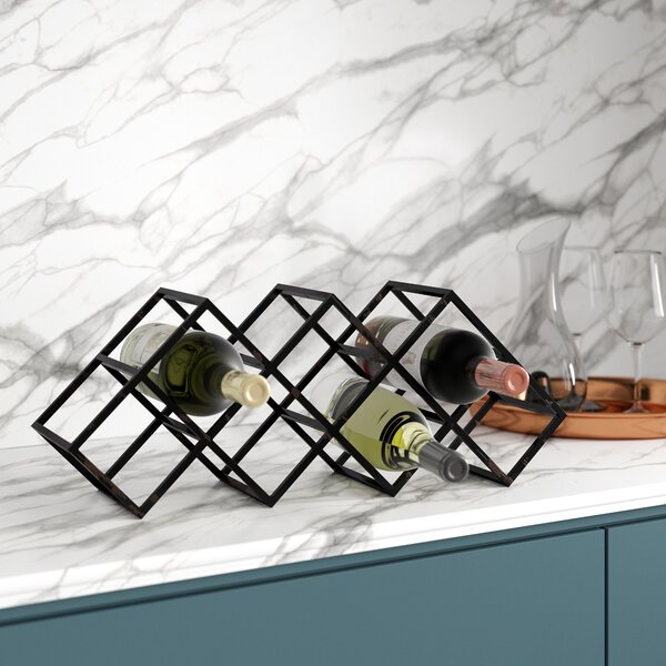 Lagasse 7 Bottle Floor Wine Rack by Mercury Row