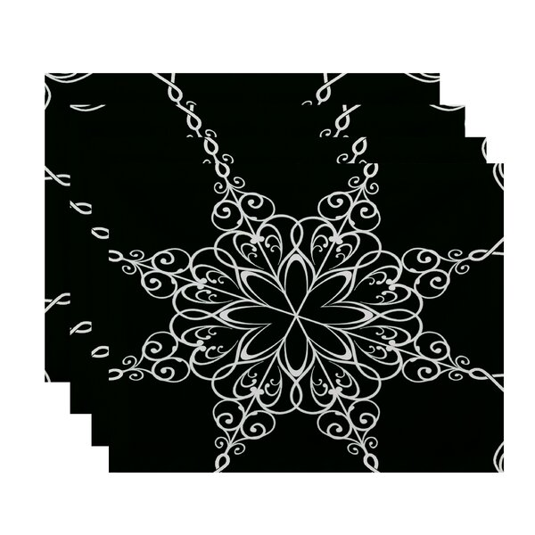 Snowflake Placemat (Set of 4) by The Holiday Aisle