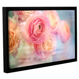 Glass Flowers Framed Photographic Print on Wrapped Canvas by House of Hampton