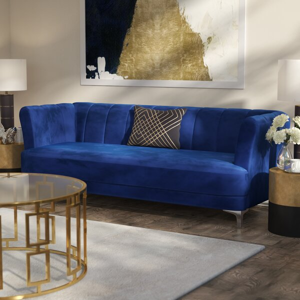 Exellent Quality Danette Elegant Classic Chesterfield Sofa by Willa Arlo Interiors by Willa Arlo Interiors