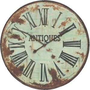 leslie round oversized wall clock