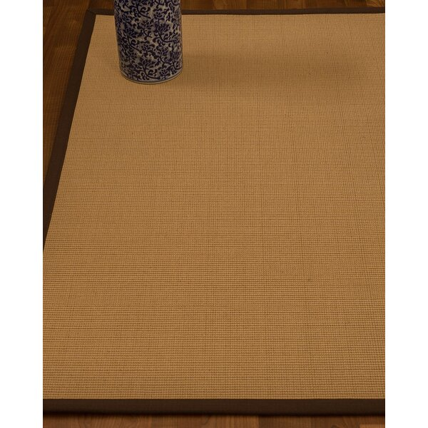 Magruder Border Hand-Woven Wool Blend Beige/Brown Area Rug by Gracie Oaks