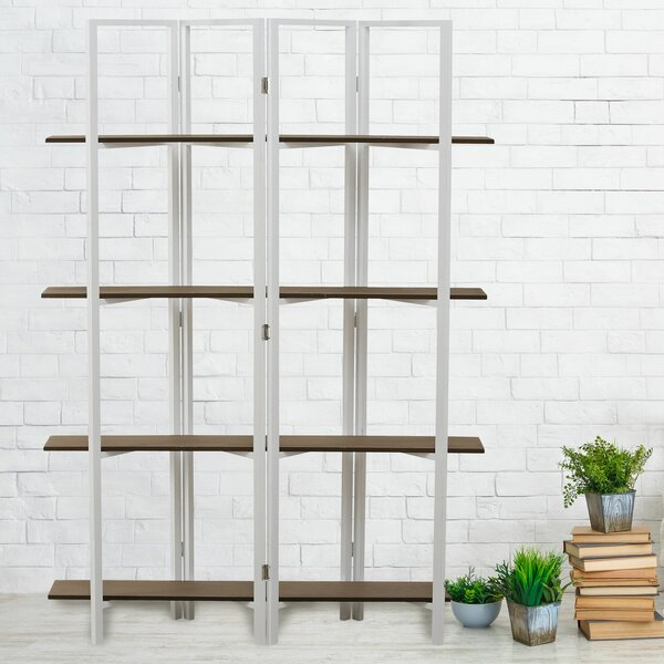 Rude Plank Foldable Etagere Bookcase by Wrought Studio