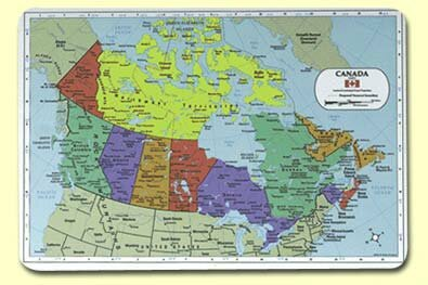 Canada Placemat (Set of 4) by Painless Learning Placemats