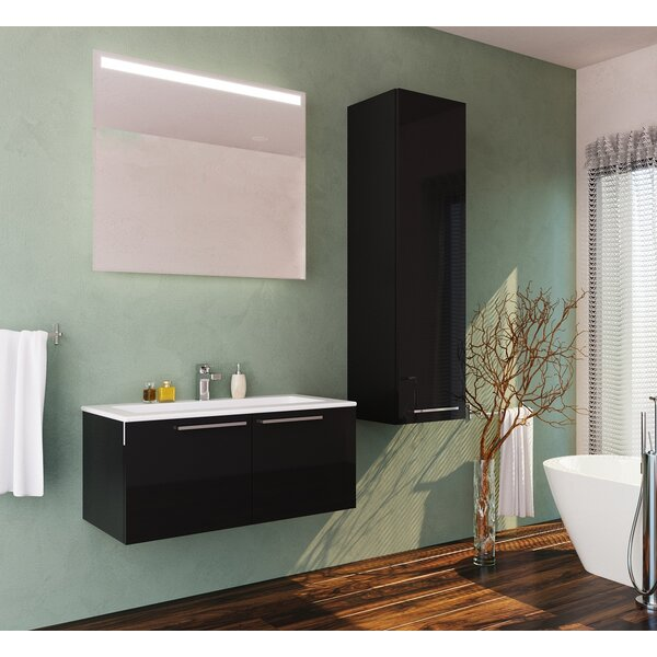 Whitehorn 24 Wall Mounted Single Bathroom Vanity Set with Mirror by Orren Ellis