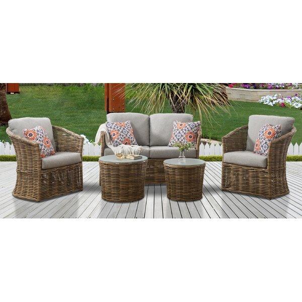 Iowa 5 Piece Rattan Sofa Seating Group With Cushions By Bayou Breeze by Bayou Breeze Amazing