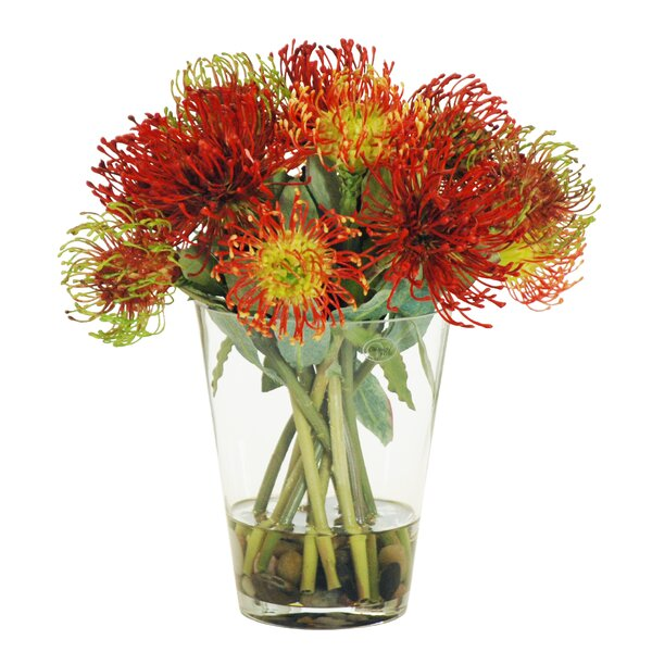 Pincushion Centerpiece in Glass Vase by Darby Home Co