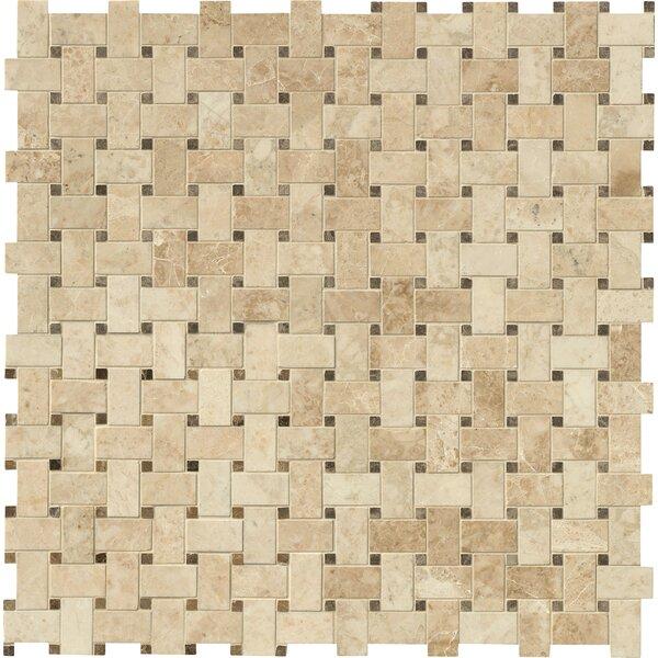 Basket Weave Random Sized Natural Stone Mosaic Tile
