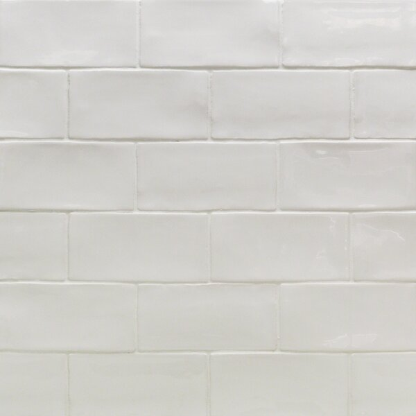 Catalina 3 x 6 Porcelain Subway Tile in White by Splashback Tile