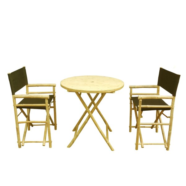Phat Tommy 3 Piece Bistro Set by Buyers Choice