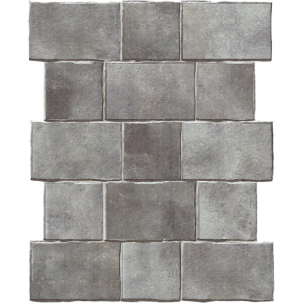 Geo-Tech Extruded 9 x 9 Porcelain Field Tile in River by QDI Surfaces