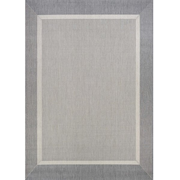 Linden Gray Indoor/Outdoor Area Rug by Beachcrest
