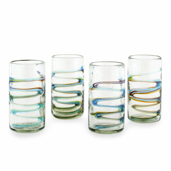 Hand Blown 11 Oz. Tumbler Glass (Set of 4) by Novica
