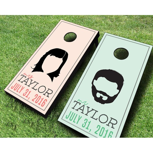 Wedding Hairstyles Cornhole Set by AJJ Cornhole
