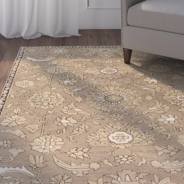 Ivan Hand-Tufted Taupe Wool Area Rug by Charlton Home