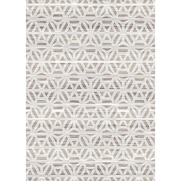 Carrizales Trellis Moroccan Modern Ivory/Beige Area Rug by Wrought Studio