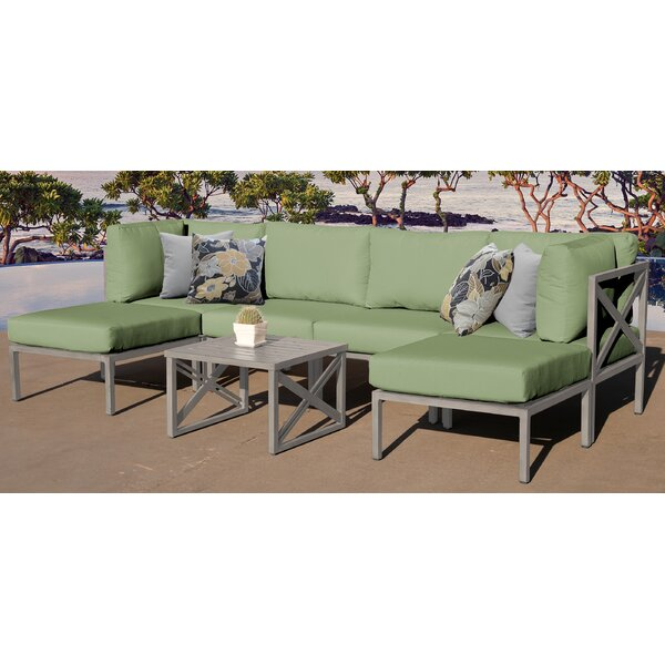 Carlisle 7 Piece Sectional Seating Group with Cushions by TK Classics
