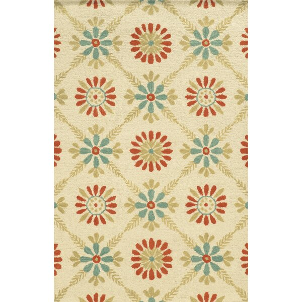 Louisiana Hand-Tufted Ivory Area Rug by Meridian Rugmakers