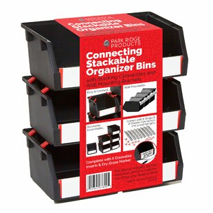 Compare prices Stackable and Mountable 33 Piece Plastic Bin Set By Rebrilliant