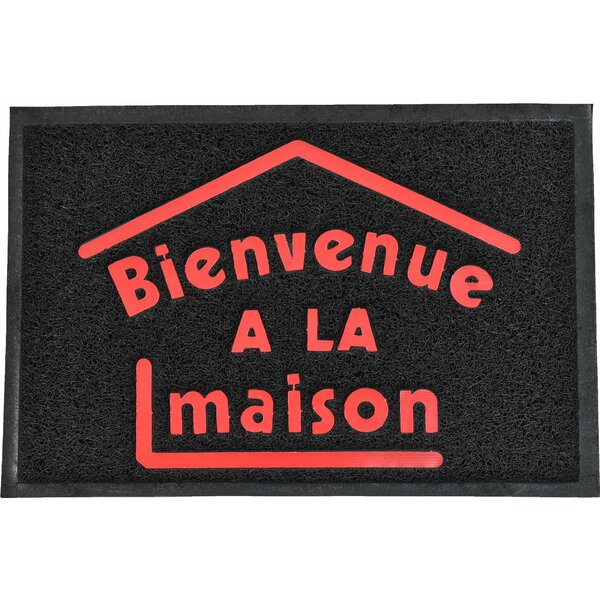 French Outdoor Printed Bienvenue A La Maison PVC Doormat by Evideco