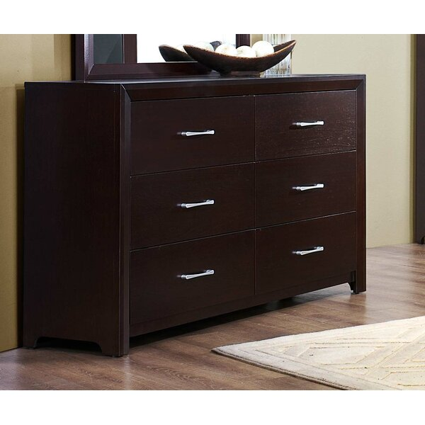 Nicholle Wooden 6 Drawer Double Dresser by Red Barrel Studio