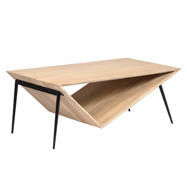 Belvedere Asymmetric Contemporary Coffee Table by Brayden Studio Brayden Studio