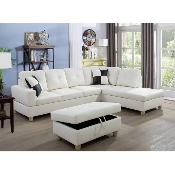 Don't Miss The Cokato Sectional with Ottoman by Ebern Designs by Ebern Designs
