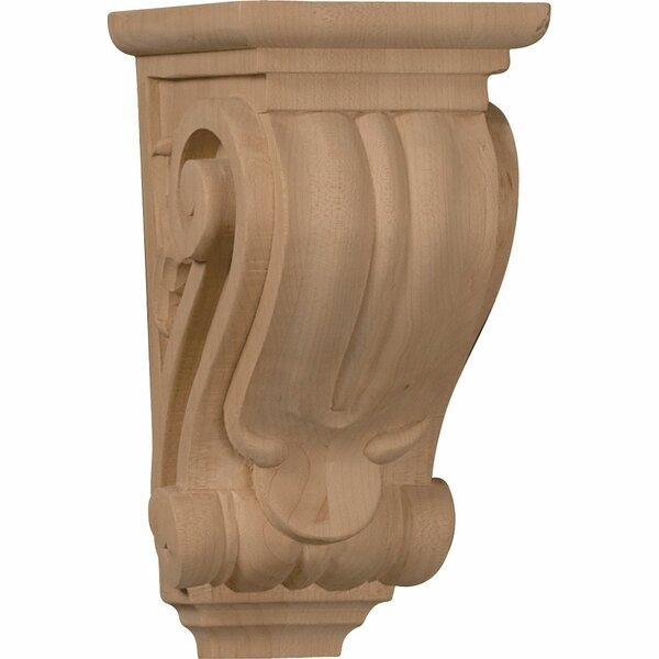 Classical 7H x 3 1/2W x 4D Small Corbel in Alder by Ekena Millwork