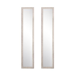 Find for Farmhouse Slim Full Length Mirror (Set of 2) By Highland Dunes