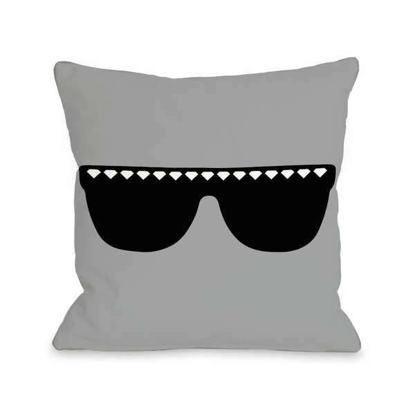 Diamond Sunglasses Throw Pillow by One Bella Casa