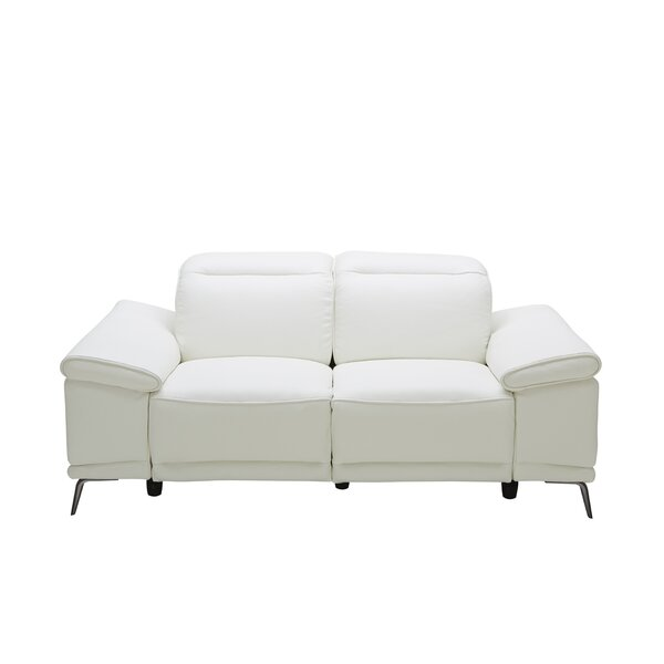 Brookville Leather Reclining Loveseat by Wade Logan