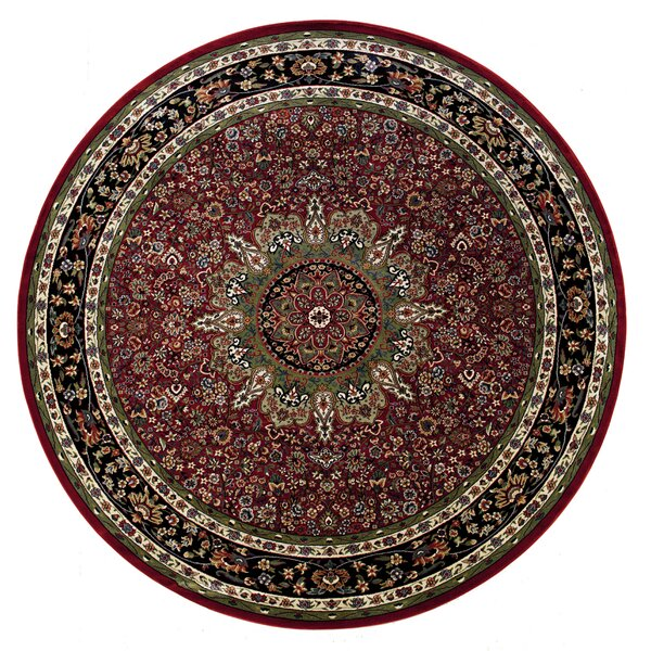 Shelburne Traditional Red/Blue Area Rug by Astoria Grand