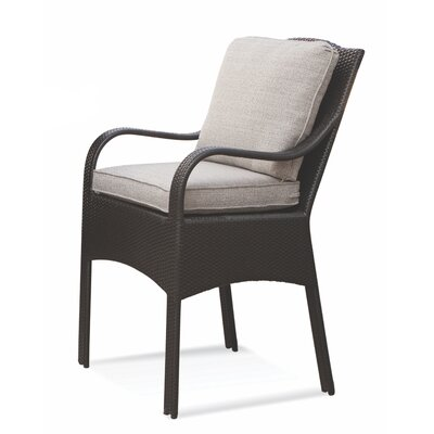 Brighton Pointe Patio Dining Chair with Cushion Braxton Culler Cushion Color: 6359-74