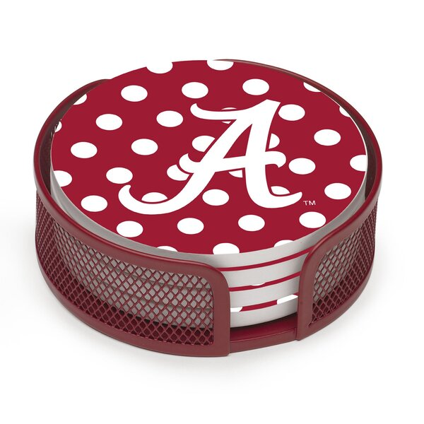 5 Piece University of Alabama Dots Collegiate Coaster Gift Set by Thirstystone