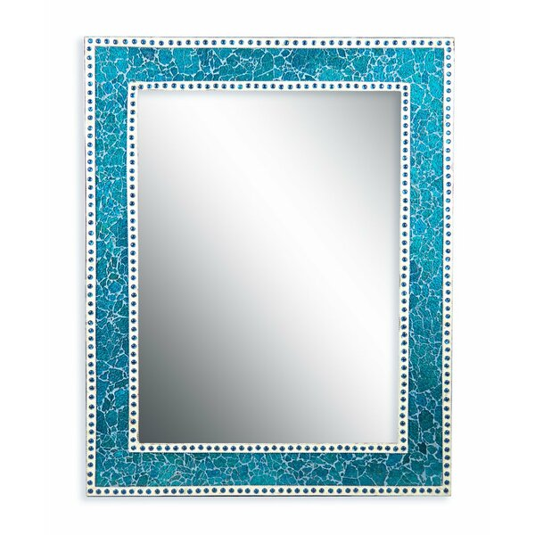 Crackled Glass Decorative Wall Mirror by DecorShore