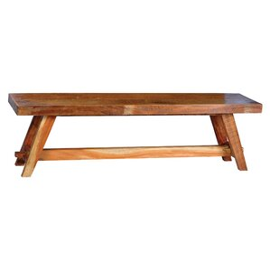 Sugar City Wood Bench by August Grove